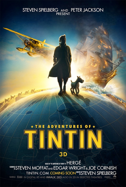 Primer cartel de Las aventuras de Tintín: El secreto del Unicornio