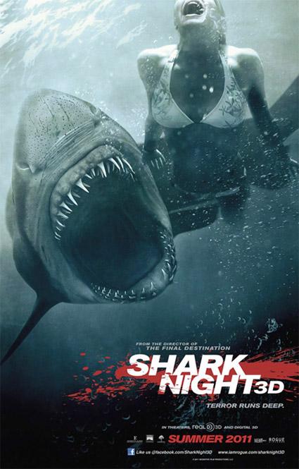 Primer cartel de Shark Night 3D
