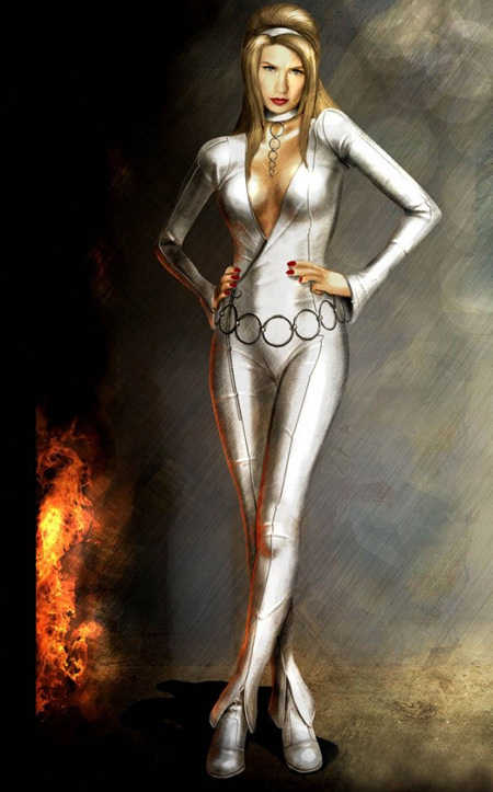 Uno de los posibles trajes de Emma Frost
