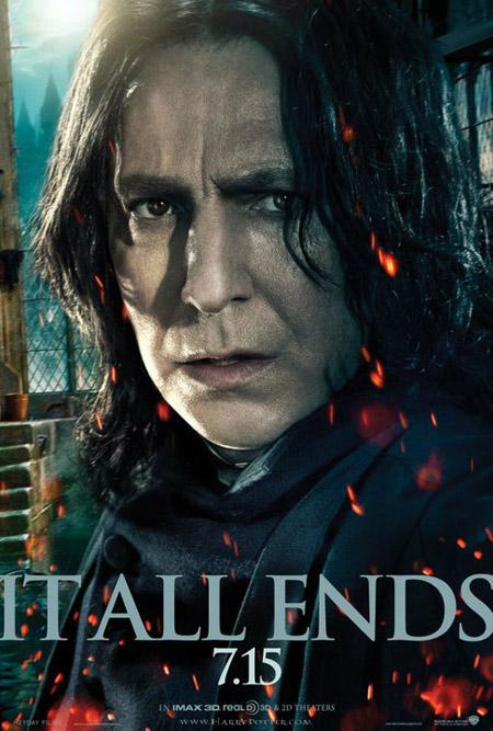 Nuevo cartel de Harry Potter y las reliquias de la muerte (2ª parte)... Snape