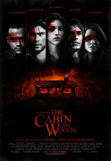 Nuevo sencillo pero molón cartel de The Cabin in the Woods