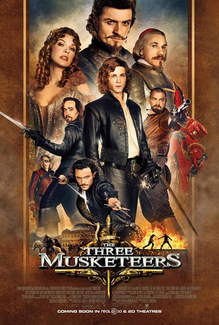 Primer cartel de The Three Musketeers… porque es ciencia ficción