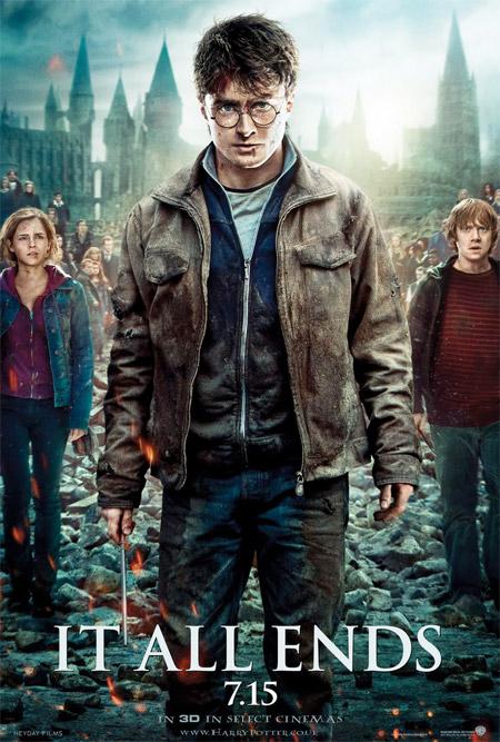 Cartel de Harry Potter y las reliquias de la muerte (2ª parte)