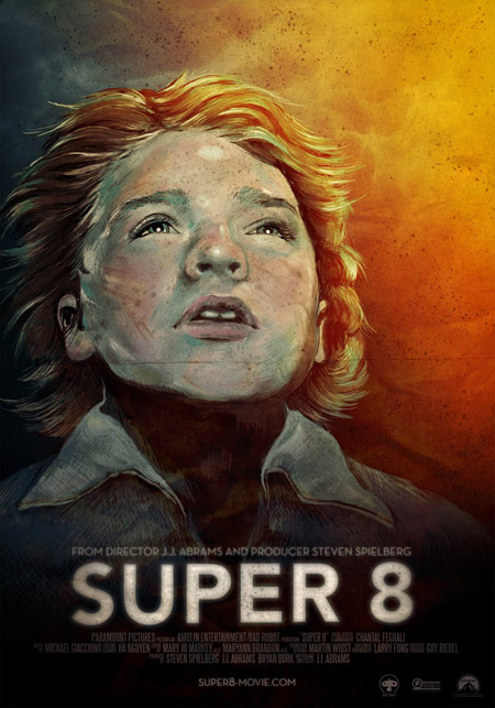 Cartel desechado de Super 8 obra de Daniel Skubal y Veronica LaPage