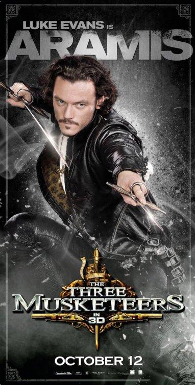 Primer cartel de personaje para The Three Musketeers... Aramis