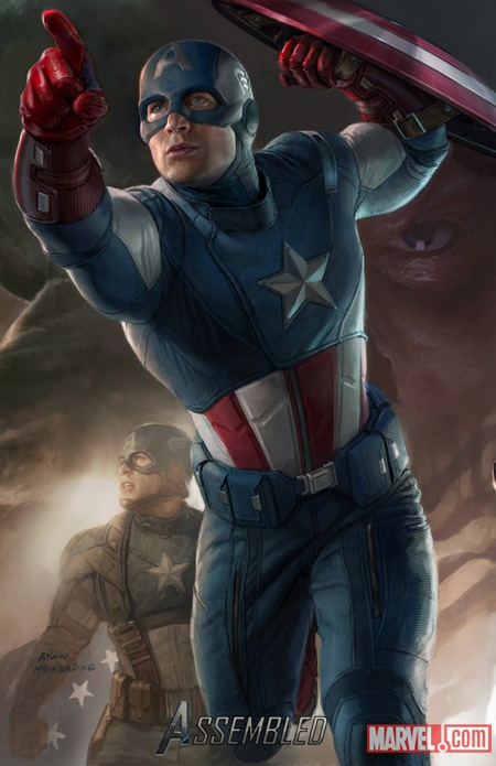 Cartel promo de The Avengers: Capitán América