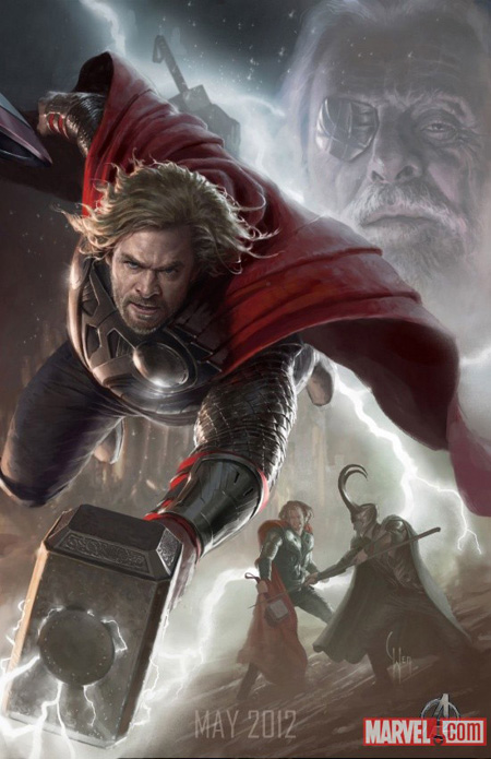 Cartel promo de The Avengers: Thor