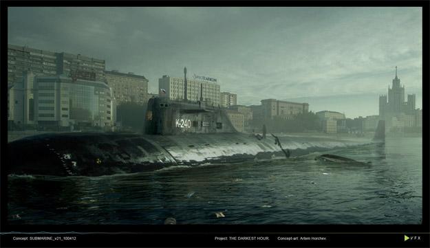 The Darkest Hour: Un submarino, el mejor lugar para protegerse de los aliens