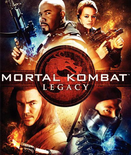 """Cartel para la vente en Blu-Ray / DVD de """"Mortal Kombat: Legacy"""""""