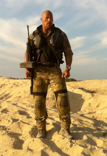 "Dwayne ""The Rock"" Johnson como Roadblock en G.I. Joe 2: Retaliaton"