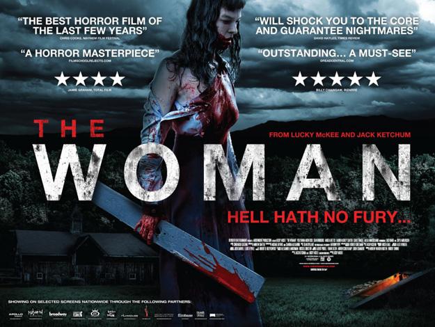 Nuevo cartel de la violenta y desagradable obra de terror The Woman de Lucky McKee