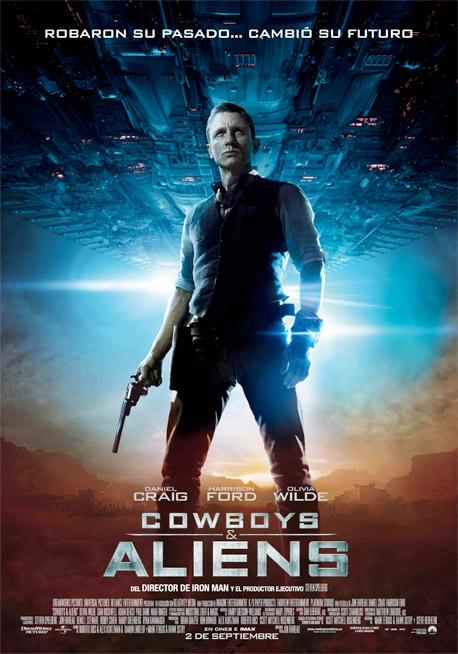 Uno de los carteles españoles de Cowboys & Aliens