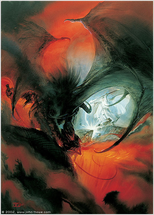 Gandalf and the Balrog II (49.4 x 68.8 cm), 1996