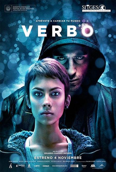 Cartel final del film de ciencia ficción español Verbo