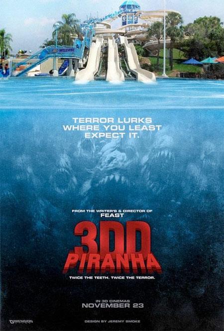 Primer cartel de Piranha 3DD
