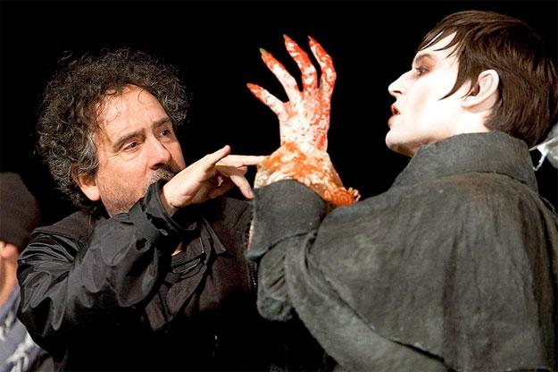Imagen del rodaje de Dark Shadows de Tim Burton