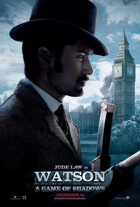 Nuevo cartel de Sherlock Holmes: juego de sombras