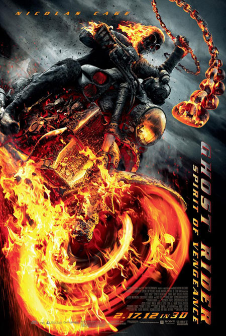 Nuevo vistoso cartel de Ghost Rider: Spirit of Vengeance
