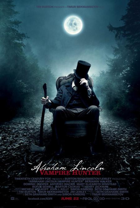 Primer cartel de Abraham Lincoln: cazador de vampiros