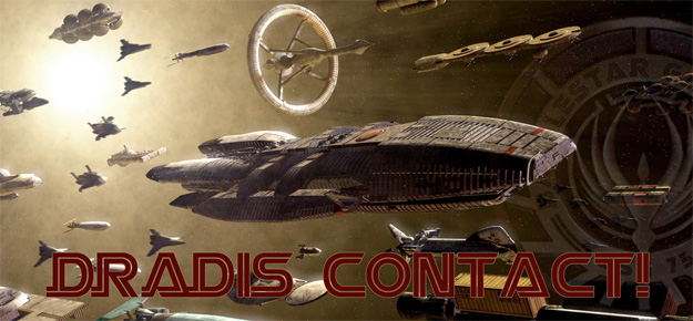 Cartel promocional de Dradis Contact!