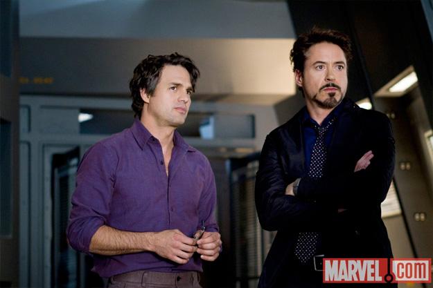 Bruce Banner y Tony Stark en Los Vengadores