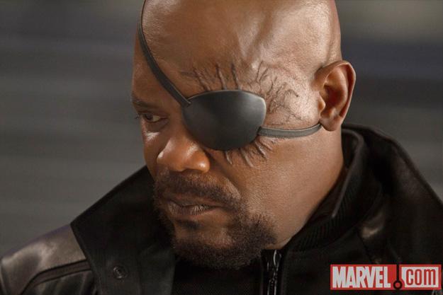 Un mejor vistazo al parche de Nick Fury