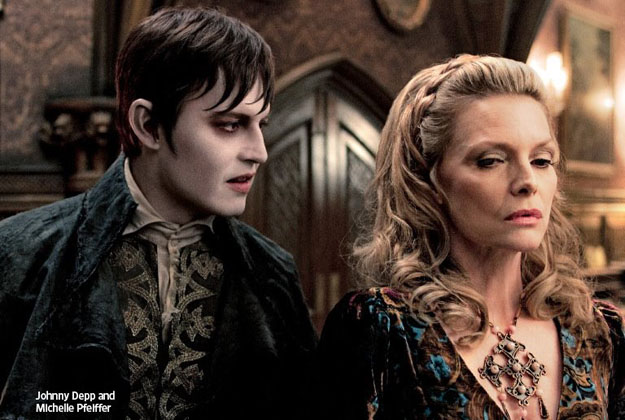 Nueva imagen de Dark Shadows con un irreconocible Johnny Depp y una veterana Michelle Pfeiffer