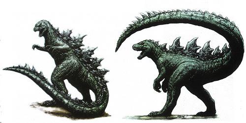 Concept art descartado para Godzilla de Legendary Pictures