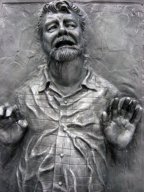 George Lucas conservado en carbonita
