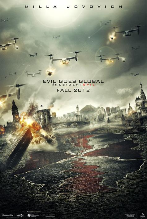 Nuevo cartel de Resident Evil: venganza