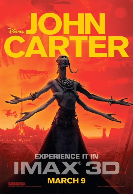 Nuevo cartel IMAX para John Carter vía IMPAwards