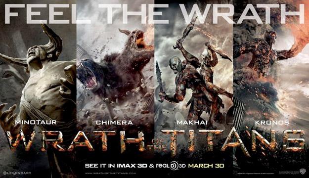 Nuevo cartel fusión de titanes y seres mitológicos de Ira de Titanes