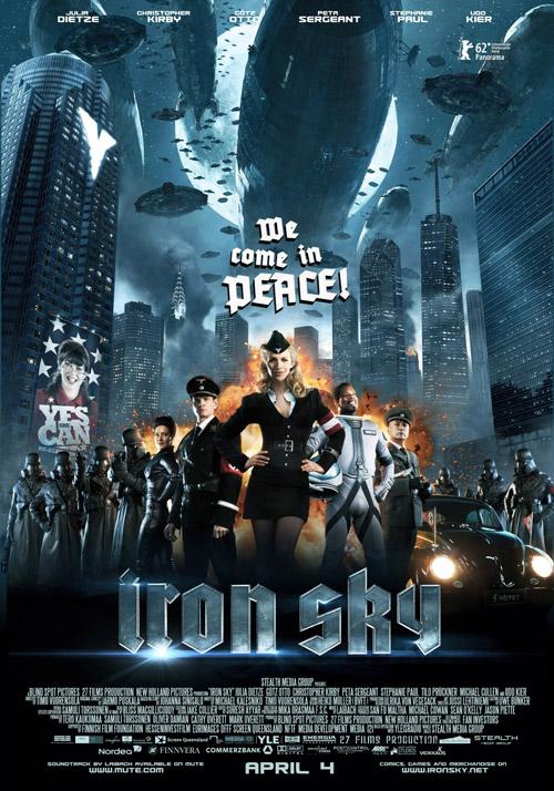 Cartel final de Iron Sky para su presentación en la Berlinale