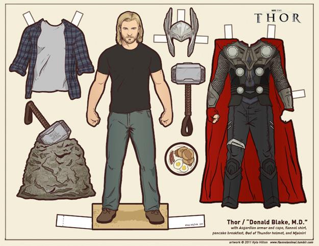 Recortable de Thor a.k.a. Donald Blake en Thor