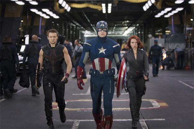 Nueva imagen en alta resolución de tres de Los Vengadores