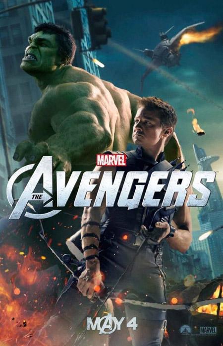 Nuevo carte de Los Vengadores con Hulk y Ojo de Halcón