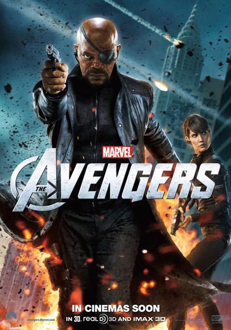 Nuevo cartel de Los Vengadores con Nick Fury y Maria Hill
