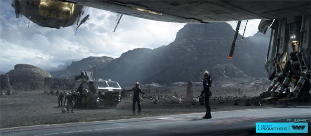 La tripulación de la Prometheus