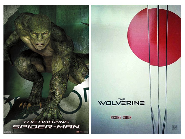 Un par de supuestos carteles para The Amazing Spider-Man y The Wolverine