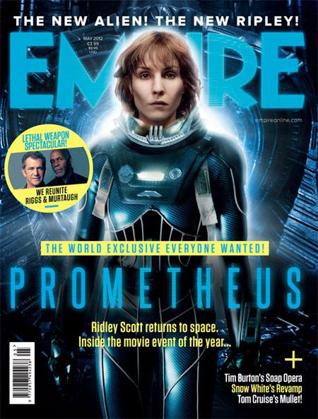Portada de Empire para Prometheus de Ridley Scott