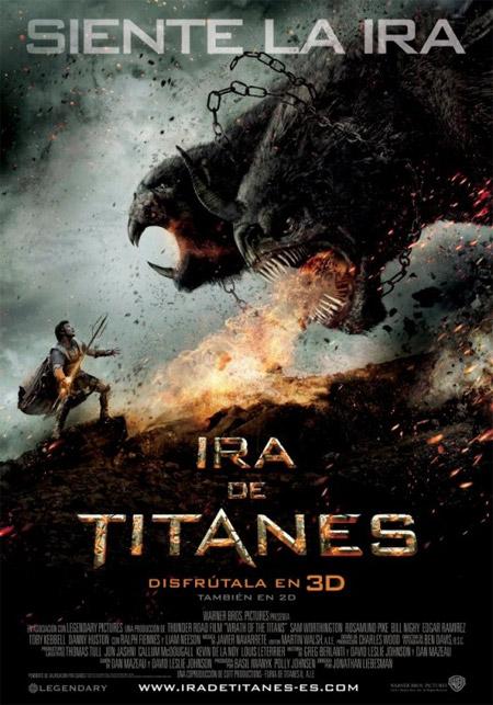 Cartel español de Ira de Titanes