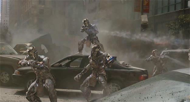 Los Chitauri arrasando la ciudad