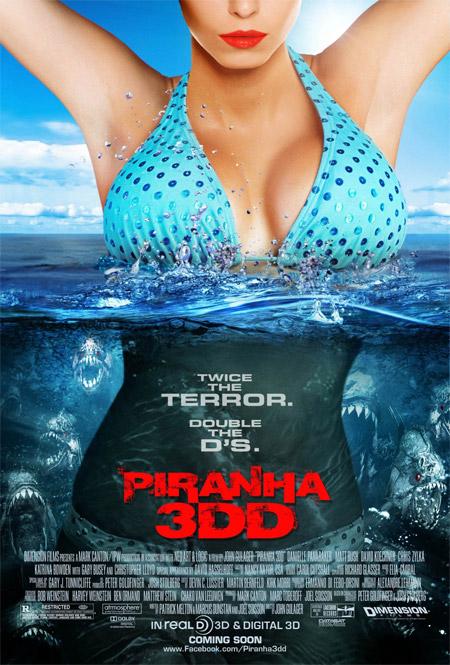 Primer par de tetas prestas a promocionar Piranha 3DD