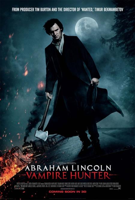 Nuevo cartel de Abraham Lincoln: cazador de vampiros