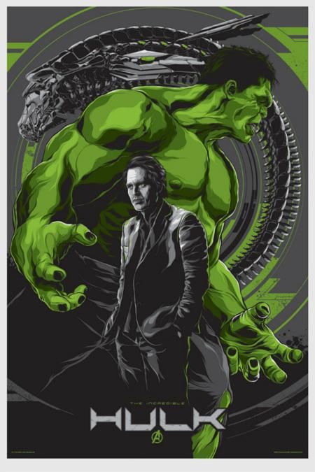 Póster Mondo de Los Vengadores: Hulk obra de Ken Taylor