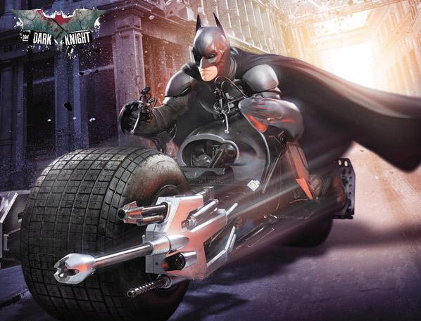 Promo de El caballero oscuro: la leyenda renace con Batman en la BatPod