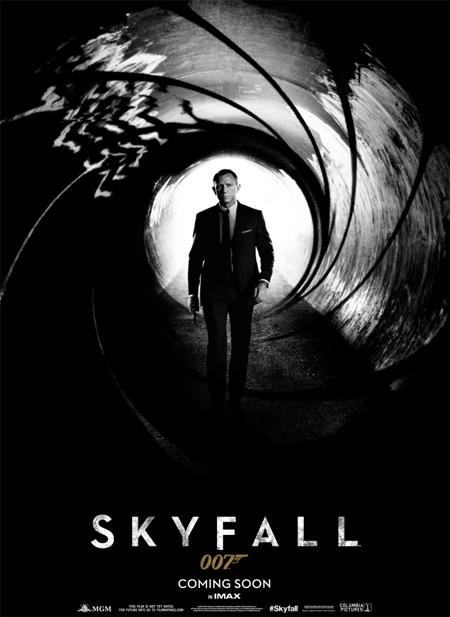 Cartel de Skyfall, simple pero efectivo