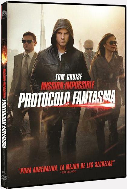 Carátula de la edición en DVD de Misión: imposible - protocolo fantasma