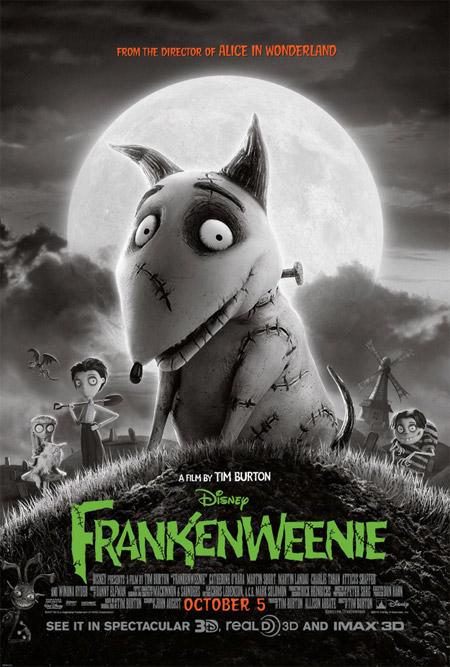 Nuevo cartel de Frankenweenie de Tim Burton