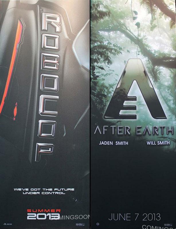 Primer banner promocional de RoboCop y After Earth